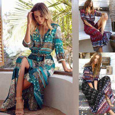 20 платьев на пляж в богемном стиле фото