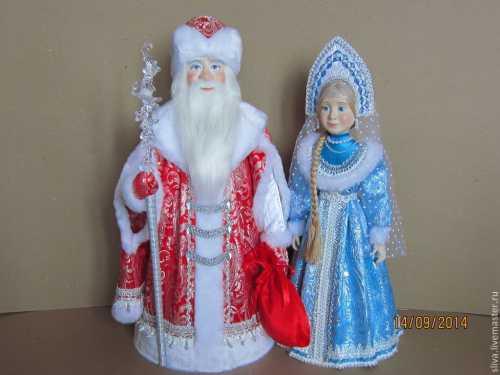 Делаем игрушки своими руками Дед Мороз и Снегурочка