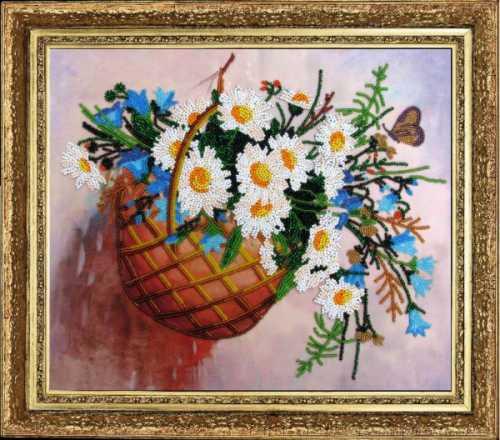Панно Корзина цветов