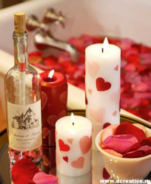 Подарок на День Святого Валентина своими руками Часть 3 Декорируем свечи