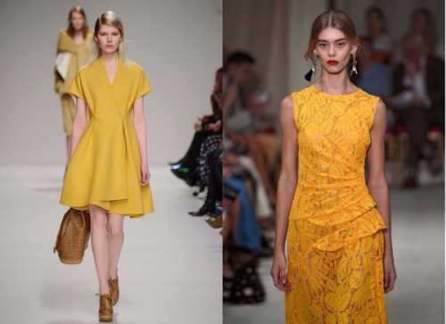 Что надеть на Новый год: 15 вариантов желтого платья