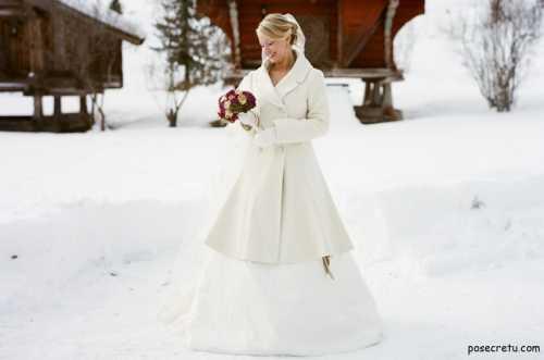 Как зимой выбрать свадебное платье