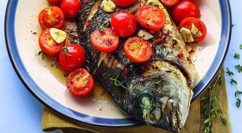 Рыба в греческом стиле Рецепт