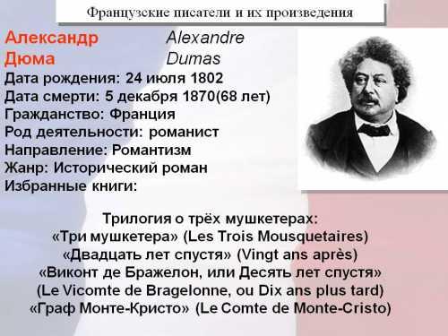ФРАНЦУЗСКИЕ  ПИСАТЕЛИ
