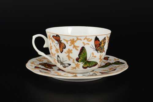 Чайная чашка Шафрановая бабочка