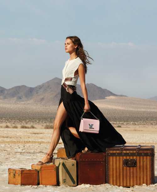 Алісія Вікандер у новій рекламній кампанії Louis Vuitton