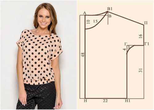 Используйте трикотажный материал для создания новой блузки, потому что он эластичен и идеально сядет на вас