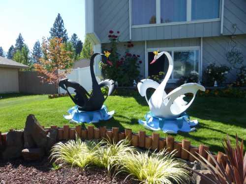 Лебедь, кот и черепаха: ландшафтный дизайн вашего сада