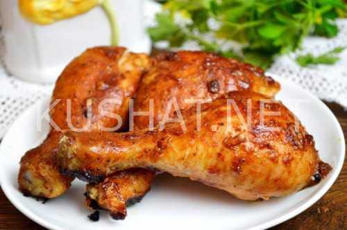 Курица в духовке: запекаем с медом