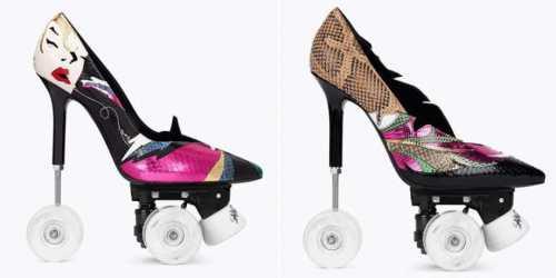 Бренд Saint Laurent креативит: новая модель – шпильки на роликах
