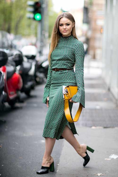 С чем носить юбкусолнце