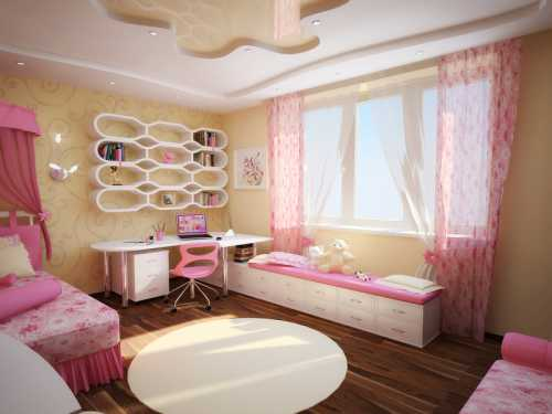 Располагать предметы в комнате для девочки старше стоит так, чтобы присутствовала некая гармония, приятная атмосфера
