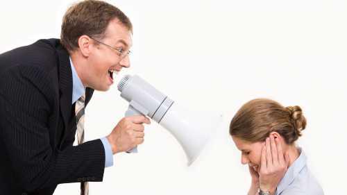 Что делать, если начальник кричит